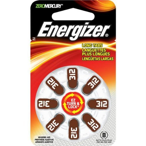 - NEW HEARING AID SIZE 312 8-PKSIZE 312 MERCURY FREE (Batteries & Chargers) by Energizer
