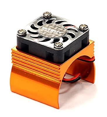 Integy Hobby RC Model C23140ORANGE Super Brushless Motor Heatsink+Cooling Fan 540 Size BL