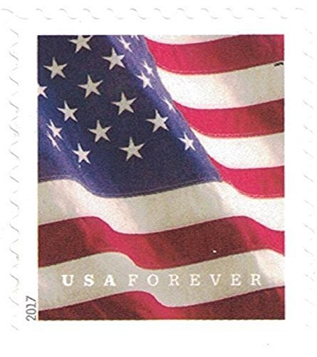 USPS U.S. Flag Forever Stamps, Book of 20 - 2017, 20 Stamps (Stamp Us Postage)