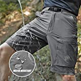 FREE SOLDIER Men's Lightweight Breathable Quick Dry Tactical Shorts Hiking Cargo Shorts Nylon Spandex
