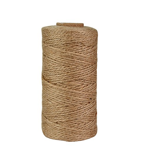 300 Feet Natural Jute Twine, Jmkcoz Arts Crafts Twine Industrial Packing Materials Durable Natural Twine DIY Gift String Decoration Gardening Application Jute Rope