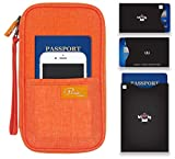P.travel Passport wallet Linene Orange with RFID Stop