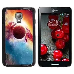 Caucho caso de Shell duro de la cubierta de accesorios de protección BY RAYDREAMMM - LG Optimus L7 II P710 / L7X P714 - Red Planet Explosion Galaxy Universe Art