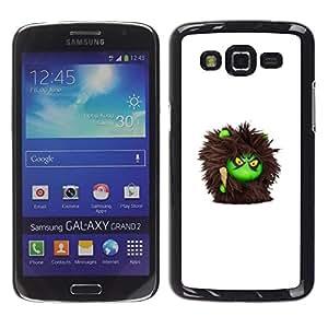 Caucho caso de Shell duro de la cubierta de accesorios de protección BY RAYDREAMMM - Samsung Galaxy Grand 2 SM-G7102 SM-G7105 - Furry Monster Cute Cartoon Toy