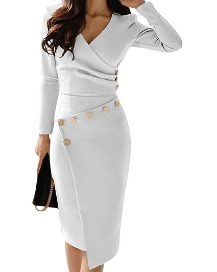 a845b1196c6 Minetom Robe Moulante À Épaules Dénudées Femmes Haute Fente Asymétrique  Longue Maxi Robe Automne Hiver Manches