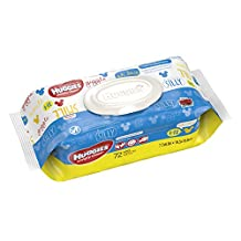 HUGGIES Simply Clean Fresh Scented Baby Wipes, Soft Pack (72 Sheets), Alcohol-free, Hypoallergenic
