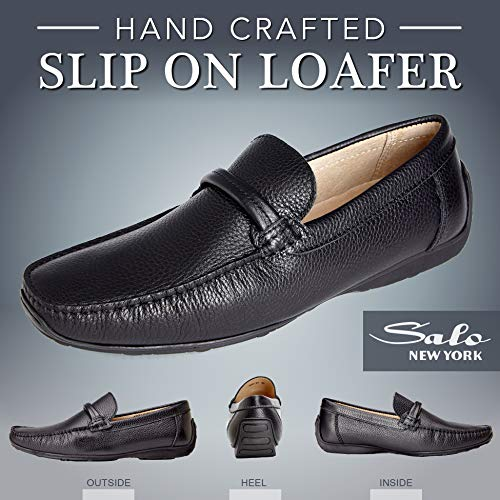 Rubber Slip Dress Genuine Men's Casual Moccasins Leather Sole and On Loafers aqSwBxz61