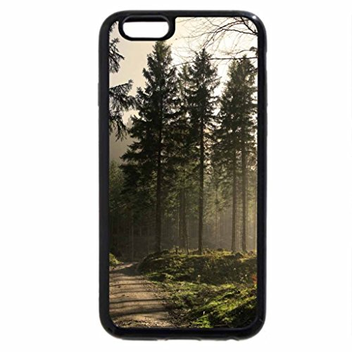 iPhone 6S / iPhone 6 Case (Black) road thru the pines