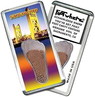 "product image for Sacramento ""FootWhere"" Souvenir Fridge Magnet. Made in USA (SAC204 - Bridge)"