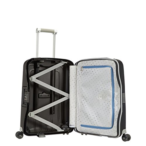 Samsonite S'Cure Hardside Checked Luggage with Spinner Wheels, 30 Inch, Black