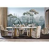 3d papier peint personnalisé papier peint européen de jardin peint à la main médiéval Tropical Jungle murale TV Canapé peinte à la main peintures murales 3d papier peint, 350cmx245cm
