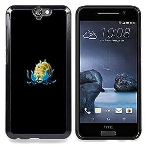 "Qstar Arte & diseño plástico duro Fundas Cover Cubre Hard Case Cover para HTC One A9 (Omanyte P0kemon"")"