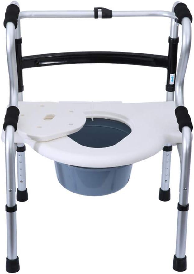 JFZCBXD Cómoda de la cabecera Aluminium Chair de Ancianos/Personas inválidas Walker Antideslizante baño de Ducha extraíble Presidente