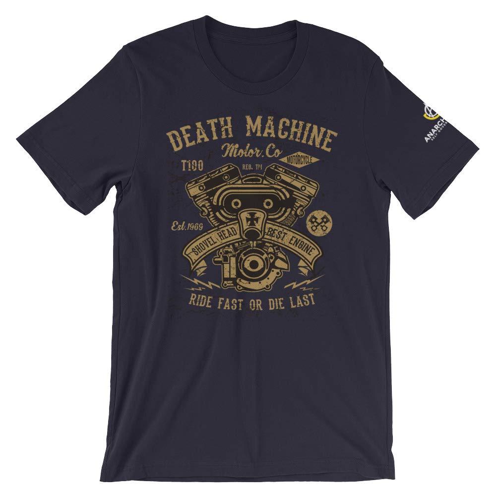 AnarchoCoffee Death Machine Motor Company Short-Sleeve T-Shirt Navy