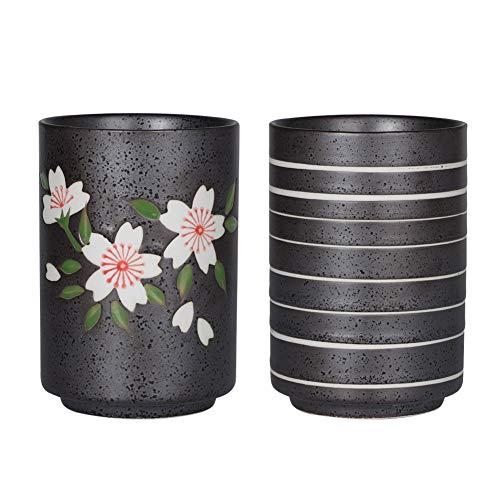 (Sunddo Japanese Tea Cups Ceramic Teacup Mug Set of 2 10oz/300mL)