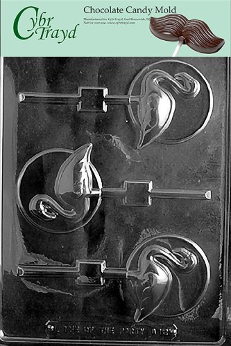 Cybrtrayd Life of the Party A121 Flamingo Lolly on Disc Chocolate Candy Mold in Sealed Protective Poly Bag Imprinted with Copyrighted Cybrtrayd Molding Instructions