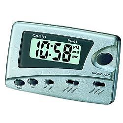 Casio Digital Traveler's Alarm Clock Snooze LED #PQ-11D-8RDF