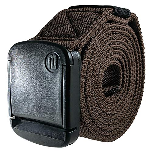 BETTA 1.5 Inch Wide Men's Elastic Stretch Belt with Fully Adjustable High-Strength Buckle (XXX-Large, Brown)