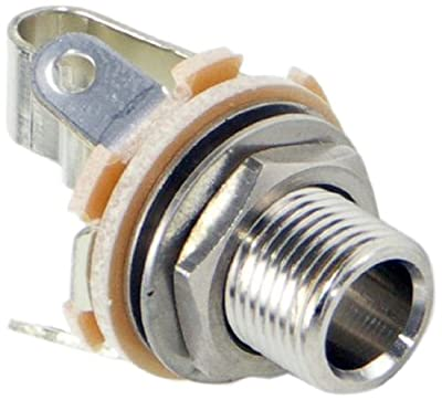 Switchcraft L11 Mono Female 1/4-Inch Jack Long Shaft with Nut and Washer, Nickel Finish from Switchcraft