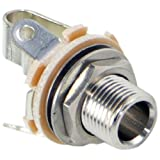 Switchcraft L11 Mono Female 1/4-Inch Jack Long Shaft with Nut and Washer, Nickel Finish