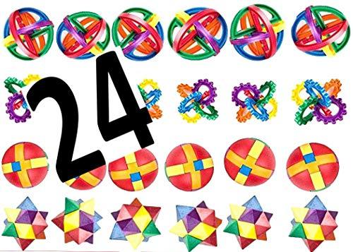 NEW YORK NOVELTY Fun Puzzle Balls - Goody Bag Fillers - Party Favors, Party Toys, Goody Bag Favors, Carnival Prizes, Pinata Filler - Fidget Brain Teaser Puzzles - Brain Teaser Novelty