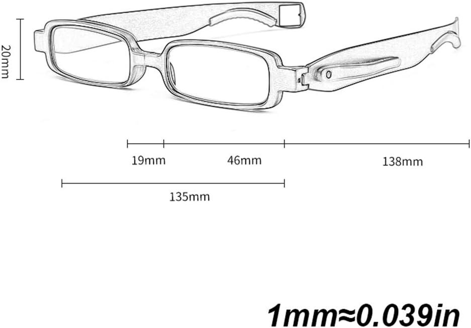 Reading Glasses Portatili Moda Occhiali da Lettura Pieghevoli Anti Luce Blu Tr90 Montatura 360/°rotanti Occhiali da Vista Presbiopia Pieghevoli per Uomo E Donna con Custodia Nero,Rosso,1.00