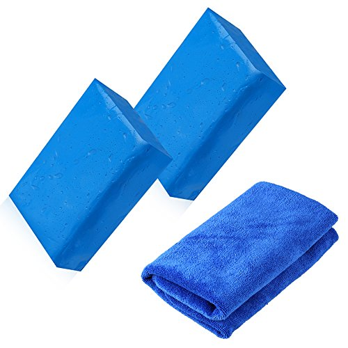 STYDDI Car Clay Bar 2 Pack 180g Auto Detailing Magic Claybar Cleaner with Microfiber Cleaning Cloth