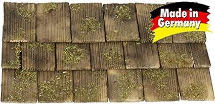 handgeschlagen Krippen WeWi 200 St/ück Dachschindel nussbaumfarben 4x2,3x0,3cm