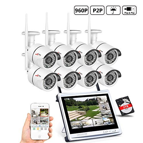 [All-in-1] ANRAN 8CH Home Surveillance System Wireless 12