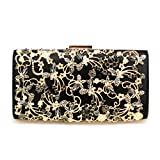 Minicastle Large Womens Noble Evening Clutch Bag Wedding Purse Bridal Prom Handbag Party Bag