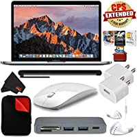 6Ave Apple 13.3 MacBook Pro (Mid 2017, Space Gray) MPXT2LL/A + MicroFiber Cloth + 2.4 GHz Slim Optical Wireless Bluetooth + 3 YEAR EXTENDED WARRANTY- Bundle