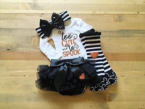 First Halloween Outfit, Halloween Outfit for Newborn Girl, Baby Girl 1st Halloween, Baby Halloween Costume, Newborn Trick or Treat Outfit by The Sparrow's Closet