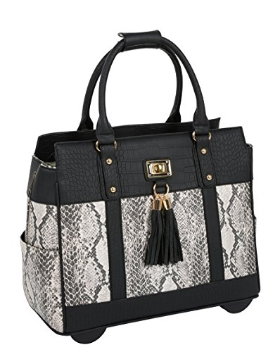 ''THE CORONADO'' Python & Alligator iPad, Tablet & Laptop Carryall Tote Bag by JKM and Company (Image #1)