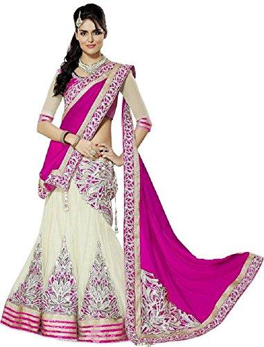 Shopaholic Women's Net Designer Choli Free Size Multi (Choli Lehenga)