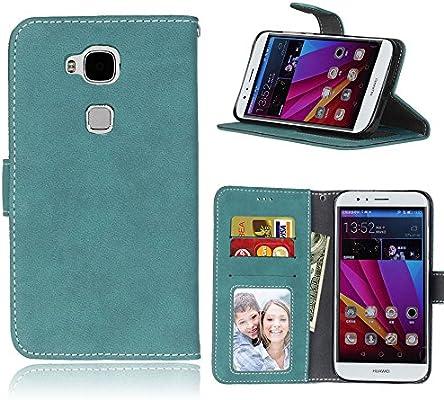 pinlu® Funda Para Huawei Ascend G8 / Huawei GX8 Alta Calidad Función de plegado Flip Wallet Case Cover Carcasa Piel Retro Scrub PU Billetera Soporte ...