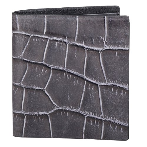 (Cross Men's Genuine Leather Credit Card Wallet with Note / Currency Compartment (Coco Bicolor_Grey/Black))