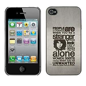 Caucho caso de Shell duro de la cubierta de accesorios de protección BY RAYDREAMMM - iPhone 4 / 4S - GENTE TIPOGRAFÍA SON EXTRAÑO