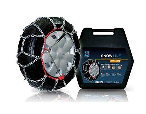 OMOLOGATE TUV CATENE DA NEVE FURGONI 16 MM GR 245 MISURA 225//75 R16 Snow Line SL16-245