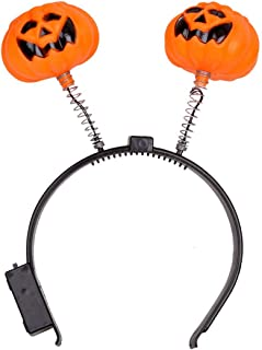 Halloween Fashion Glowing Light Pumpkin Fascia Halloween Costume Party Fancy Ball Head Band Decorazione per Ghost Festival (Orange) MachinYesity