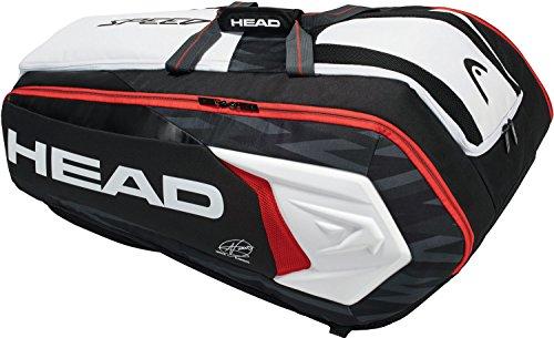 Head Djokovic Backpack - HEAD Djokovic 12R Monstercombi Tennis Bag Black/White/Red