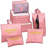 Best Bags For Clothes - 7 Set Packing Cubes Travel Luggage Organizers Review