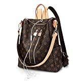 Designer Handbags For Women, Auner Fashion Backpack Leather Zipper Shoulder Bag Handbags Travel Hiking Burglar Bag