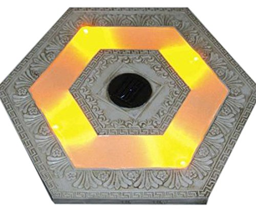 Homebrite Solar 33841/3 Power Stepping Stones, Hexagon, White Wash (Stepping Solar Stone Light)