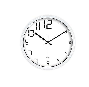Relojes silenciosos creativos simples Reloj de pared redondeados creativos de la moda Sala de estar Reloj ...