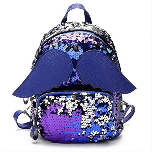 NEW Women Sequins Backpacks F Preppy Style Lovely Travel School Bag Bling Wings Shoulder Bags For Teenager Girls M40 3 -