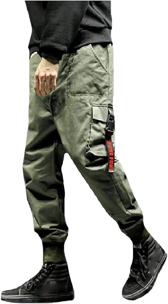 Romancly Men's Modern Big Pockets Oversized Harem Cargo Workwear Ranger Pants