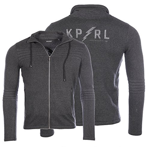 Kaporal Pull Zippé Homme Nary Dark Grey
