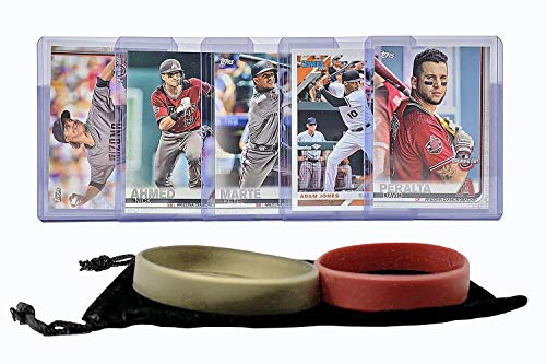 Arizona Diamondbacks Baseball Cards: David Peralta, Adam Jones, Ketel Marte, Nick Ahmed, Zack Greinke ASSORTED Trading Card and Wristbands Bundle