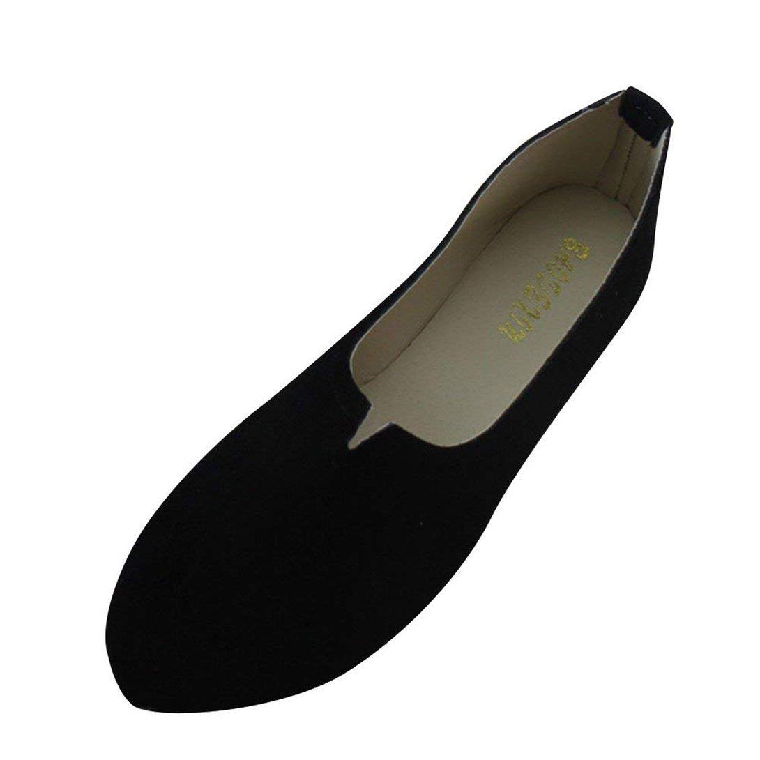 Confortable Femme Confortables Chaussures Paresseuses Confortables Ballerines Plates mais Pointue B075J9PLPW Chic y Élégant pour Les Filles Qui Aiment la Beauté mais Déteste Les Talons Hauts Noir 61372ba - shopssong.space
