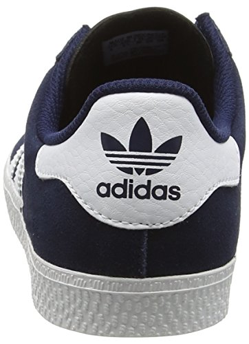 adidas Unisex-Kinder Gazelle 2 Low-Top Blau (Collegiate Navy/Ftwr White/Ftwr White)